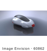 #60862 Royalty-Free (Rf) Illustration Of A 3d Futuristic Aerodynamic Car - Version 1