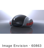 #60863 Royalty-Free (Rf) Illustration Of A 3d Futuristic Aerodynamic Car - Version 2