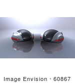 #60867 Royalty-Free (Rf) Illustration Of Two 3d Futuristic Aerodynamic Cars