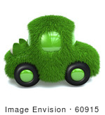 #60915 Royalty-Free (Rf) Illustration Of A 3d Green Grass Car - Version 1