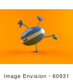 #60931 Royalty-Free (Rf) Illustration Of A 3d Computer Mouse Character Doing A Hand Stand - Version 1