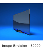 #60999 Royalty-Free (Rf) Illustration Of A Slim Flat 3d Plasma Television Screen On A Mount - Version 4