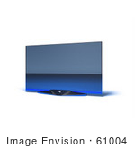 #61004 Royalty-Free (Rf) Illustration Of A Slim Flat Screen 3d Plasma Television - Version 6
