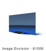 #61006 Royalty-Free (Rf) Illustration Of A Slim Flat Screen 3d Plasma Television - Version 7