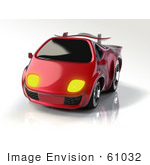 #61032 Royalty-Free (Rf) Illustration Of A 3d Compact Sports Car - Version 1