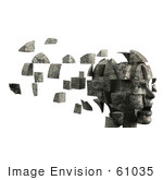 #61035 Royalty-Free (Rf) Illustration Of A 3d Woman&Rsquo;S Head With Floating Particles - Version 6