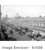#61038 Royalty-Free Historical Stock Photo Of The Bustling Quincy Market In Front Of The Agricultural Warehouse In Boston Massachusetts In 1904 by JVPD