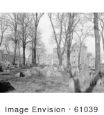 #61039 Royalty-Free Historical Stock Photo Of Trees And Graves At Copps Hill Burying Grounds Boston Massachusetts In 1904 by JVPD
