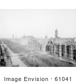 #61041 Royalty-Free Historical Stock Photo Of A View Down On Commonwealth Avenue Boston Massachusetts In 1902
