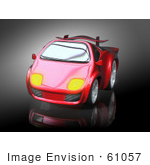 #61057 Royalty-Free (Rf) Illustration Of A 3d Red Sports Car - Version 3