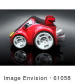 #61058 Royalty-Free (Rf) Illustration Of A 3d Red Sports Car - Version 5
