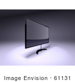 #61131 Royalty-Free (Rf) Illustration Of A 3d Slim Led Tv On A Raised Mount - Version 4