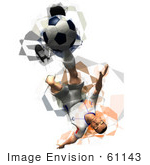 #61143 Royalty-Free (Rf) Illustration Of A 3d Soccer Player Kicking A Soccer Ball - Version 33