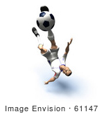 #61147 Royalty-Free (Rf) Illustration Of A 3d Soccer Player Kicking A Soccer Ball - Version 31
