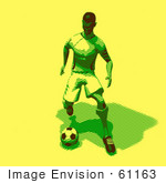 #61163 Royalty-Free (Rf) Illustration Of A 3d Soccer Player Kicking A Soccer Ball - Version 25 by Julos