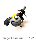 #61172 Royalty-Free (Rf) Illustration Of A 3d Soccer Player Kicking A Soccer Ball - Version 13