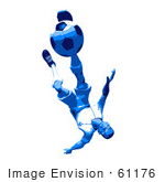 #61176 Royalty-Free (Rf) Illustration Of A 3d Soccer Player Kicking A Soccer Ball - Version 38 by Julos