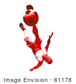 #61178 Royalty-Free (Rf) Illustration Of A 3d Soccer Player Kicking A Soccer Ball - Version 39