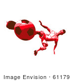 #61179 Royalty-Free (Rf) Illustration Of A 3d Soccer Player Kicking A Soccer Ball - Version 37