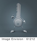 #61212 Royalty-Free (Rf) Illustration Of A 3d Key Character Holding His Thumb Up