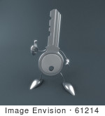 #61214 Royalty-Free (Rf) Illustration Of 3d Key Character Giving The Thumbs Up