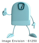 #61250 Royalty-Free (Rf) Illustration Of A 3d Green Foot Scale Character Giving A Thumb Up