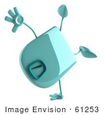 #61253 Royalty-Free (Rf) Illustration Of A 3d Green Foot Scale Character Doing A Hand Stand