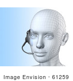 #61259 Royalty-Free (Rf) Illustration Of A 3d Customer Service Representative Wearing A Headset - Version 3