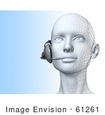 #61261 Royalty-Free (Rf) Illustration Of A 3d Customer Service Representative Wearing A Headset - Version 2
