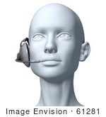 #61281 Royalty-Free (Rf) Illustration Of A 3d Customer Service Rep Wearing A Headset - Version 6