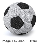 #61293 Royalty-Free (RF) Illustration Of A 3d Soft Fabric Soccer Ball by Julos