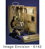 #6142 Stock Photography of a 1913 Ernst Leitz-Wetzlar Light Microscope by KAPD