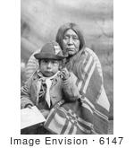 #6147 Stock Photo Of An Eggelston Native American Mother Sitting With Her Child