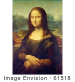 #61518 Mona Lisa Portait Painted by Leonardo Da Vinci - Royalty Free Illustration by JVPD