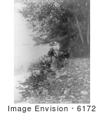#6172 Flathead Woman By River