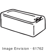 #61762 Clipart Of A Bath Tub In Black And White - Royalty Free Vector Illustration