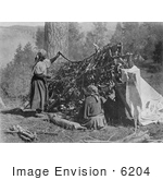 #6204 Salish Women Drying Meat