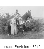 #6212 Cayuse Woman On Horse