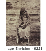 #6221 Colville Indian Woman Holding Baby by JVPD