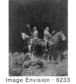 #6233 Nez Perce Men On Horseback