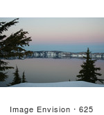 #625 Photograph Of Crater Lake At Dusk