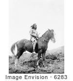 #6283 Nez Perce Man On Horse