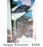 #6309 Picture Of A Lassa Fever Patient Resting In The Male Wing Of Segbwema Sierra Leone Clinic