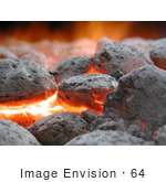 #64 Picture of Burning Charcoal Briquettes by Kenny Adams