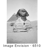 #6510 Front View of the Sphinx at Giza by JVPD