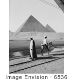 #6536 Men Viewing The Two Largest Pyramids Of Giza