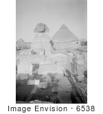 #6538 Sphinx Temple And Pyramids At Giza