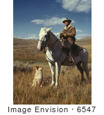 #6547 Shepherd With His Horse And Dog
