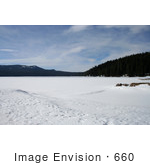 #660 Photograph Of Diamond Lake Oregon Frozen