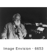 #6653 Alexander Graham Bell With Radiophone by JVPD